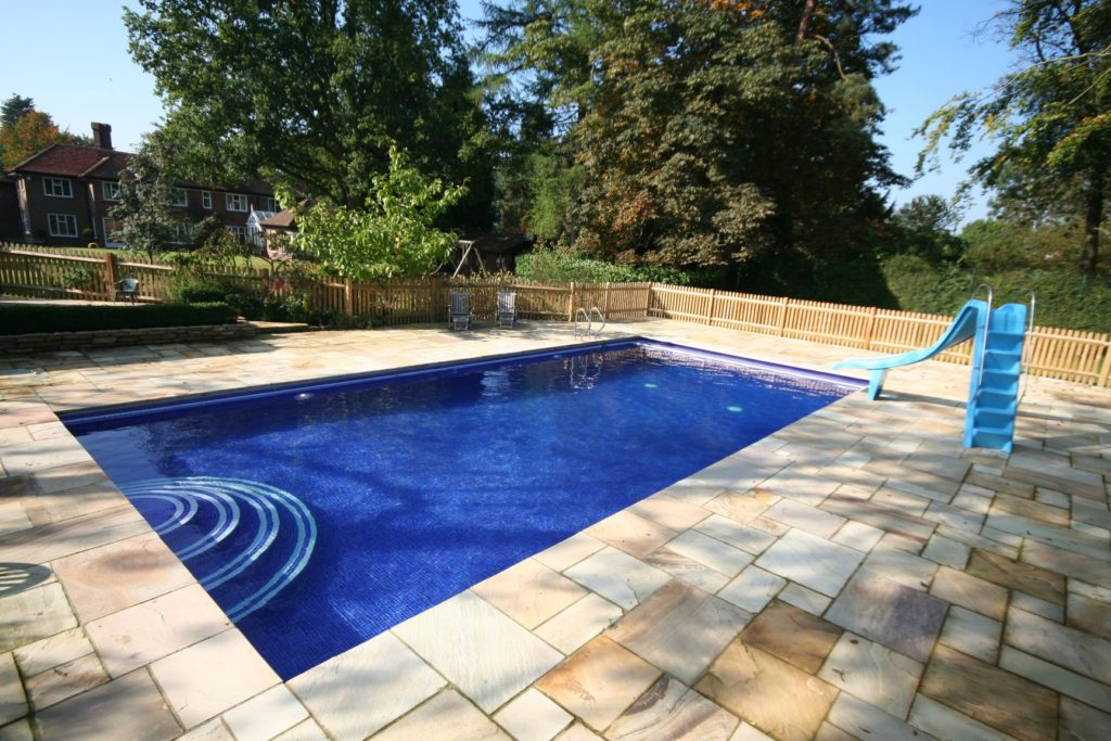 Plenty of space for all the family to enjoy fun and frolics in this outdoor pool